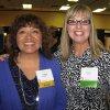 Eileen Olson with Joyce Palmer.