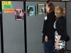 Nancy Nathenson, right, and Jenny Bush check out the photo contest submissions.