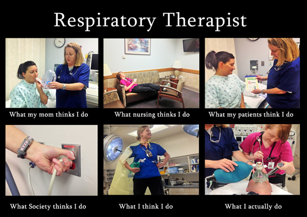 What respiratory therapists do