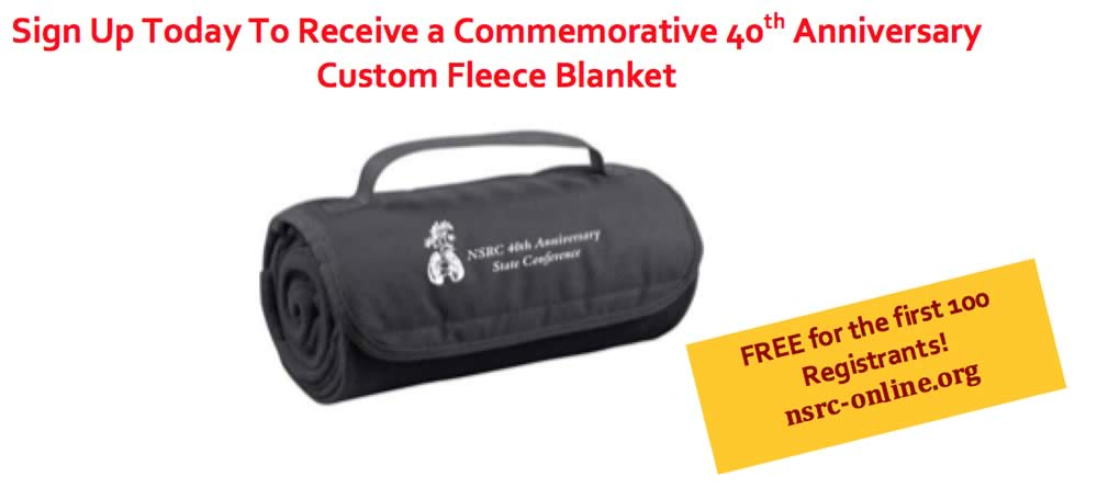 NSRC commemorative blanket