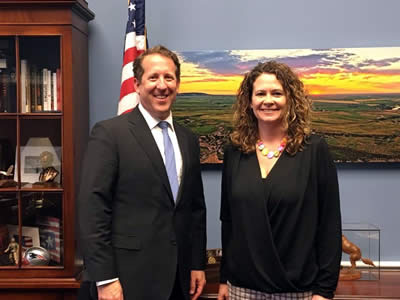 Linda Nelson and Rep. Adrian Smith
