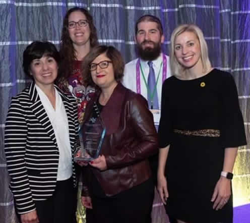 Nebraska Society for Respiratory Care members with the AARC Summit Award 2019